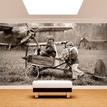 Fotomural children and aircraft