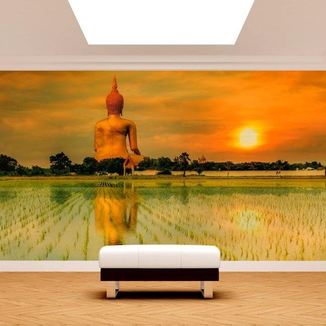 Great photo wall murals Buddha Thailand