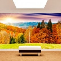Photo wall murals sunset mountains