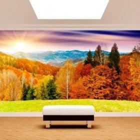 Photo wall murals sunset mountains