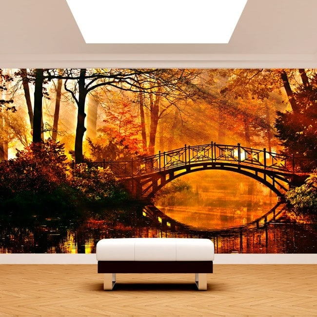 Photo wall murals bridge over the Lake