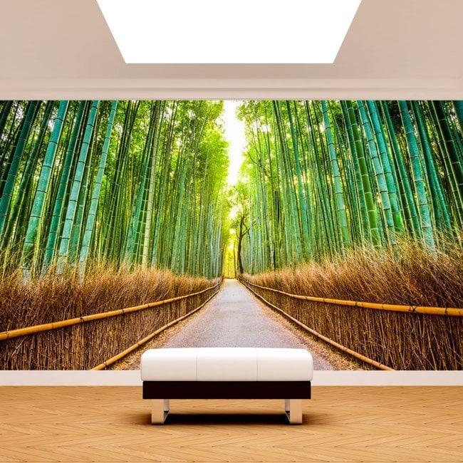 Photo wall murals road and bamboos