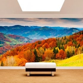 Photo wall murals tree mountains fall