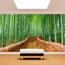 Photo wall murals bamboo stairs