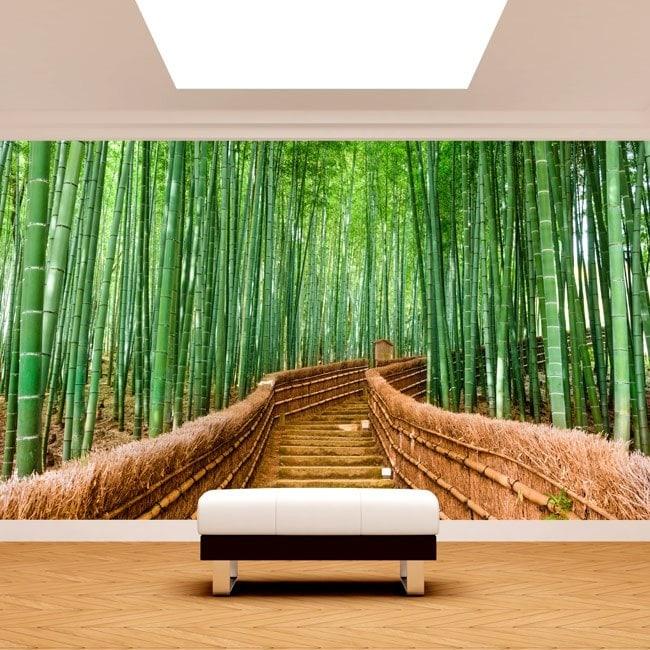 Photo wall murals bamboo stairs
