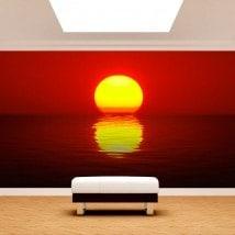 Photo wall murals Sun sunset sea