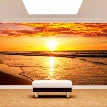 Fotomural sunset on the beach