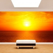 Photo wall murals Sun sunset on the sea