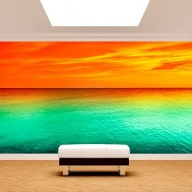 Photo wall murals sunset sea