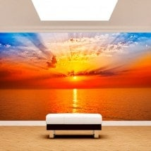 Photo wall murals sunset Sun sea