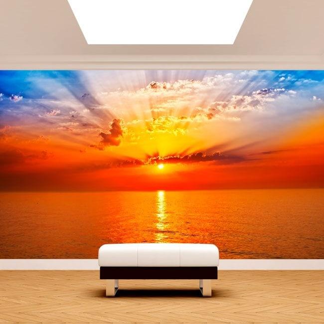 Photo wall murals sunset Sun sea
