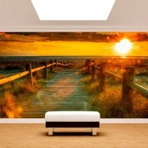 Photo wall murals-Sunset Beach