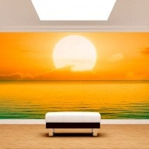 Photo wall murals sunset on sea