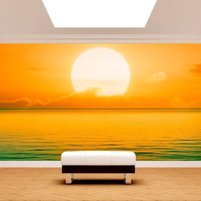 Photo wall murals sunset on sea