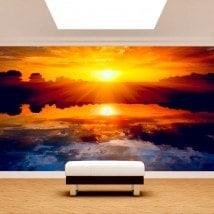 Fotomural Sun sunset sea