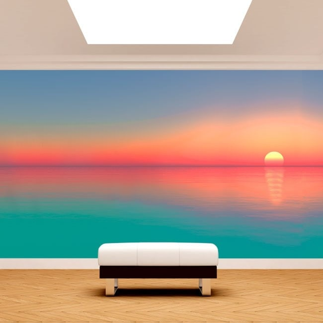 Photo wall murals sunset colors