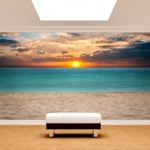 Photo wall murals sunset on the beach English 4961