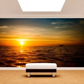 Photo wall murals put of Sun in the sea