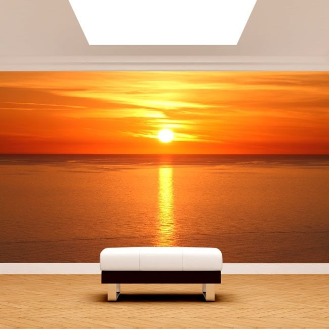 Fotomural sunset on the sea English 4963