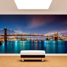 Photo wall murals bridge from Brooklyn New York