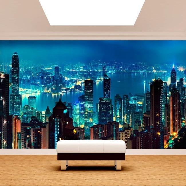Hong Kong City photo wall murals