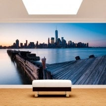 Photo wall murals buildings Manhattan