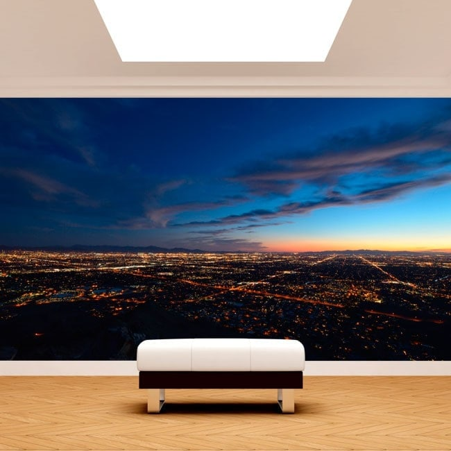 Photo wall murals city at dusk