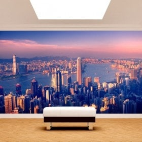 Cities of the world photo wall murals