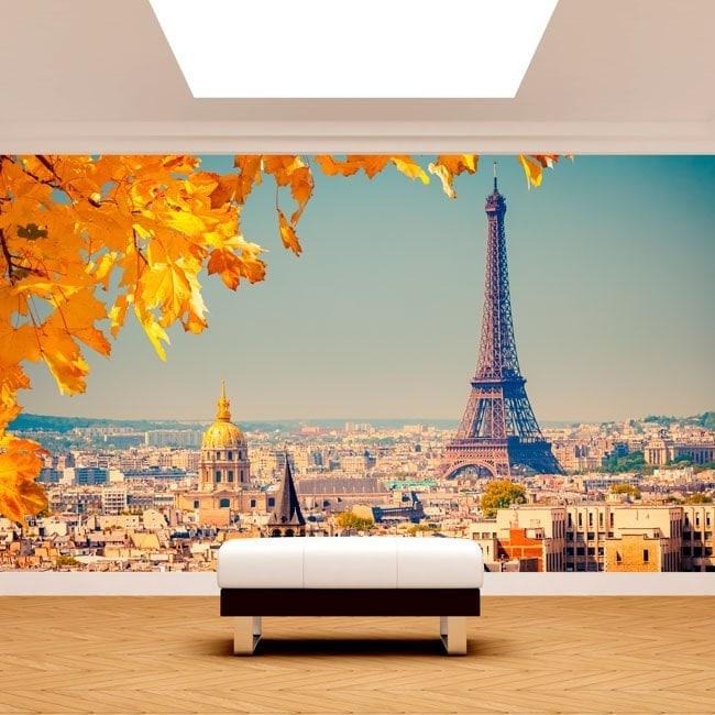Photo wall murals paris eiffel tower for Eiffel tower mural