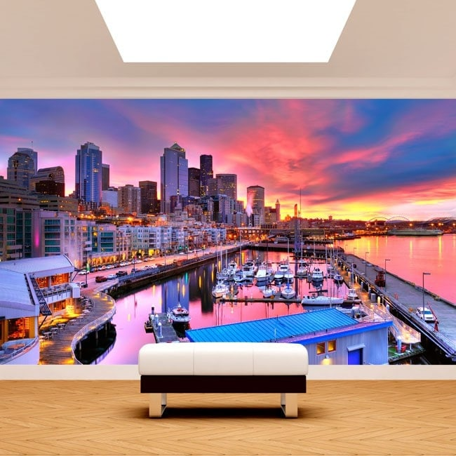 Port of Seattle photo wall murals