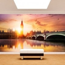 Photo wall murals Big Ben London sunset