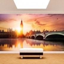 Photo wall murals Big Ben London sunset
