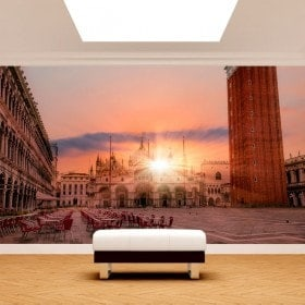 Photo wall murals Plaza San Marco sunset