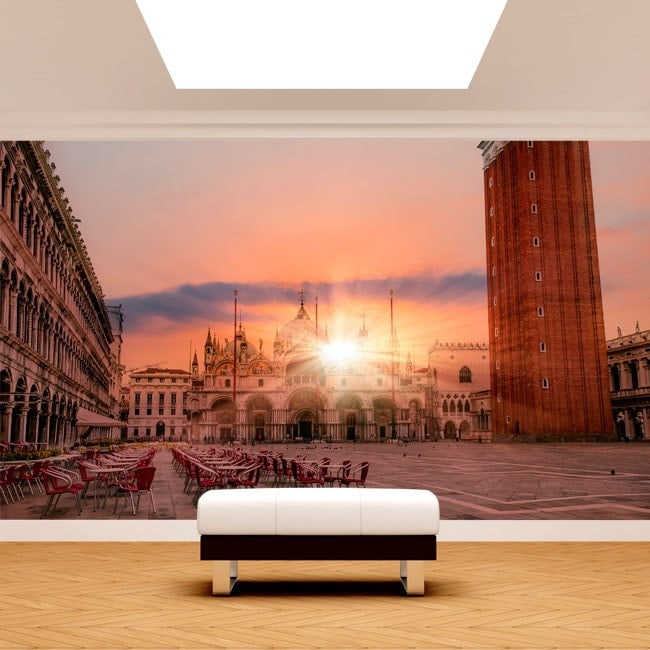 Photo wall murals Plaza San Marco sunset