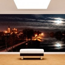 Photo wall murals city at night