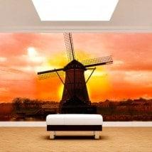Photo wall murals mill Holland