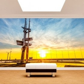 Photo wall murals Gdinia Poland to the sunset