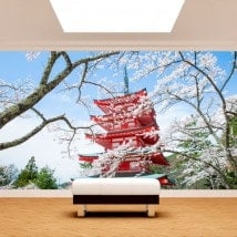 Japan Pagoda photo wall murals