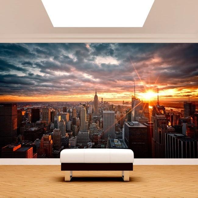 Photo wall murals Manhattan sunset