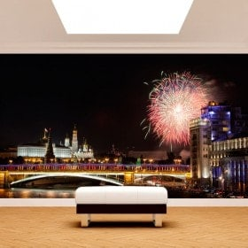 Russia city photo wall murals