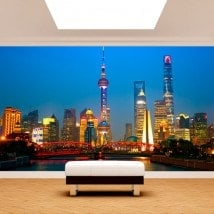 Photo wall murals cities Shanghai