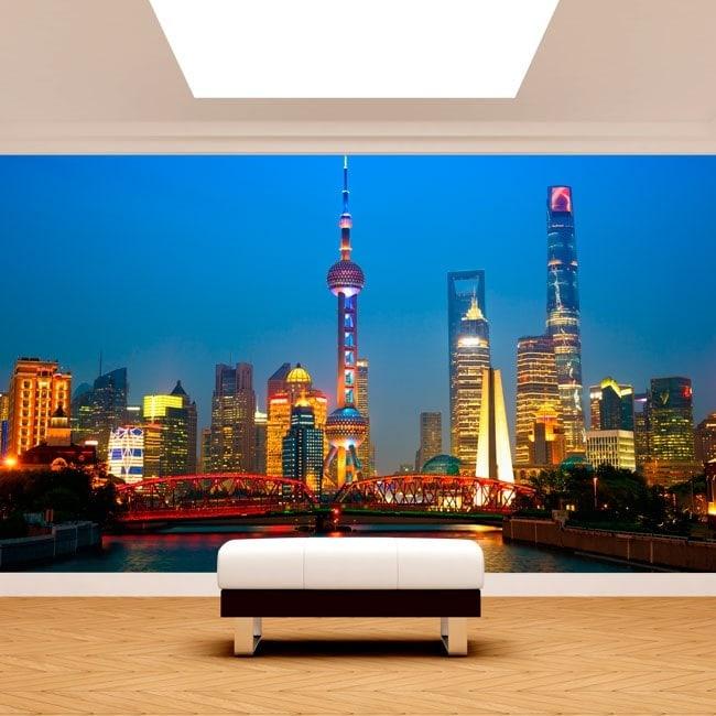 Photo wall murals cities Shanghai