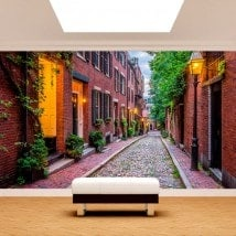 Photo wall murals Boston streets