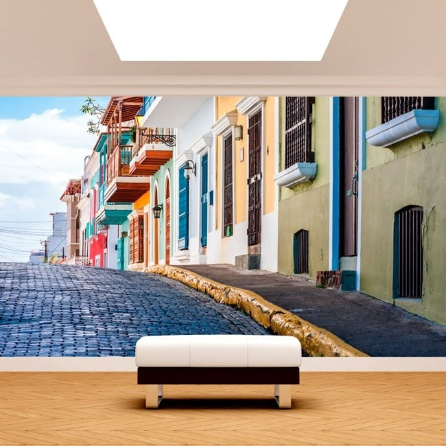 Photo wall murals Puerto Rico streets