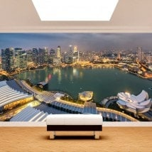 Photo wall murals city Singapore