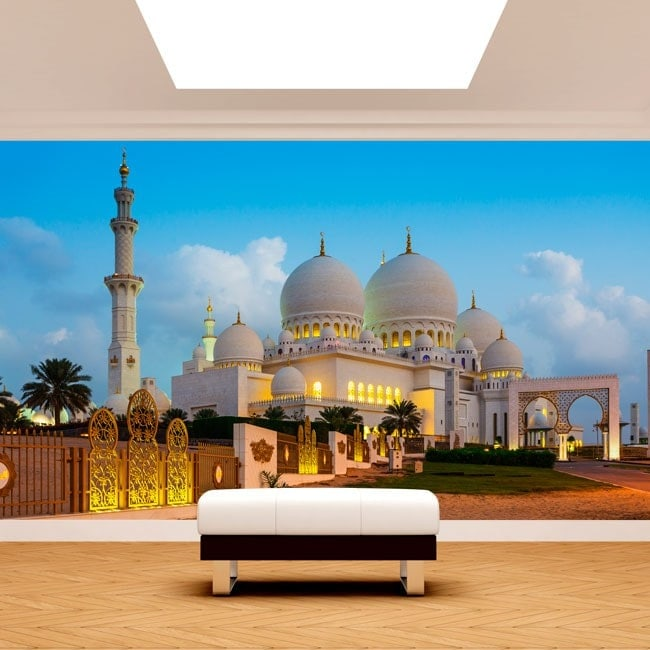 Photo wall murals vinyl mosque Sheikh Zayed