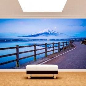 Photo wall murals road Mount Fuji