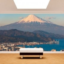 Photo wall murals city Mount Fuji