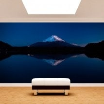 Photo wall murals Lake Kawaguchi and Mount Fuji