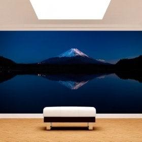 Photo wall murals Lake Kawaguchi and Mount Fuji